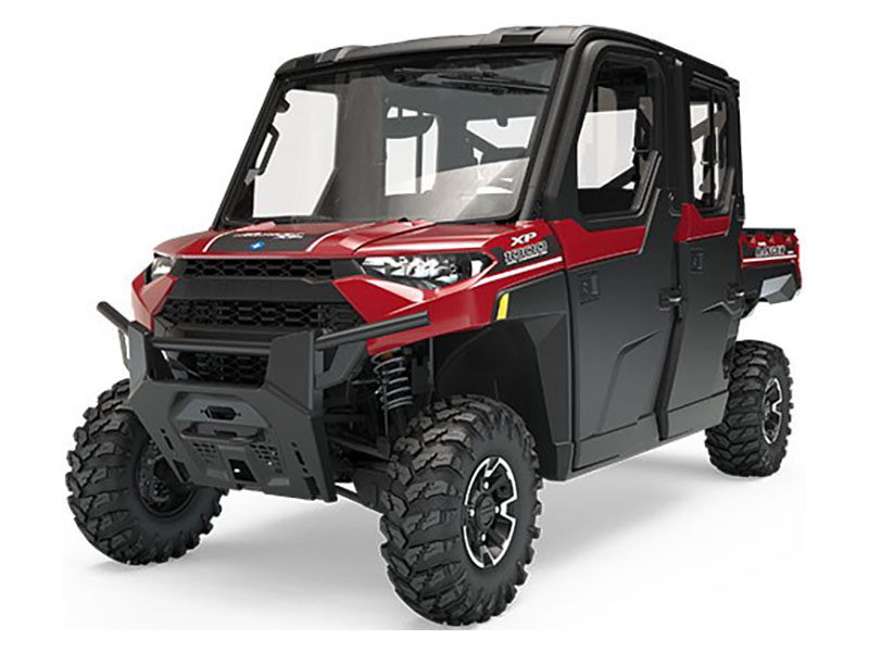 Polaris Ranger Crew XP 1000 EPS HVAC Sunset Red - Utility vehicle with Heat and Air Conditioning