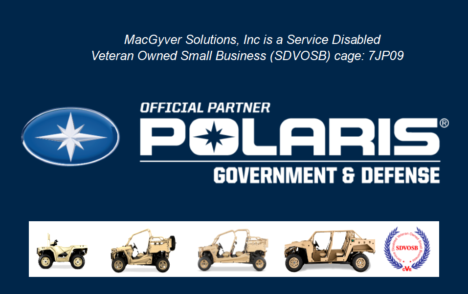 Authorized Partner with Polaris Government and Defense