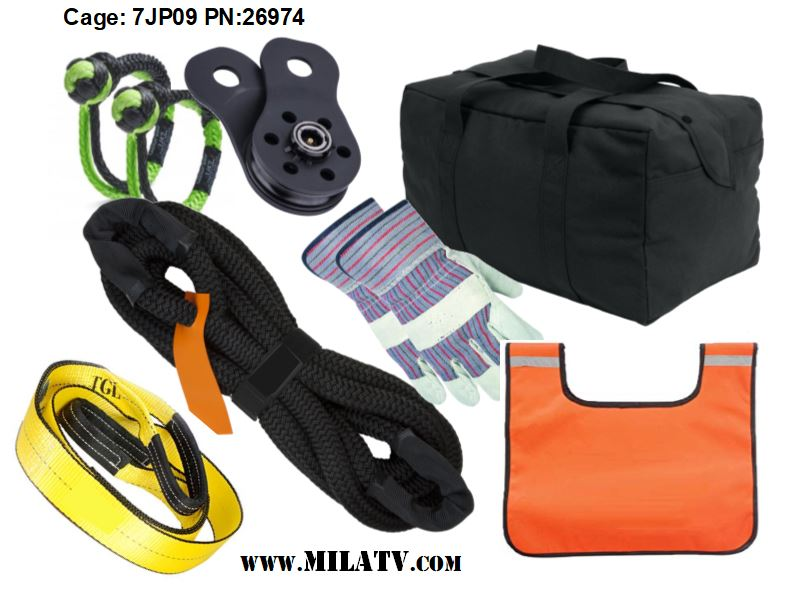 Part Number 26974 - vehicle recovery kit contents.