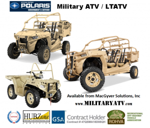 Government Tactical ATVs from Polaris MV850 MRZR-D2 and MRZR-D4